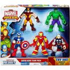 Playskool Heroes, Marvel Super Hero Team Pack [Wolverine, Hulk, Captain America, Iron Man, and Thor]